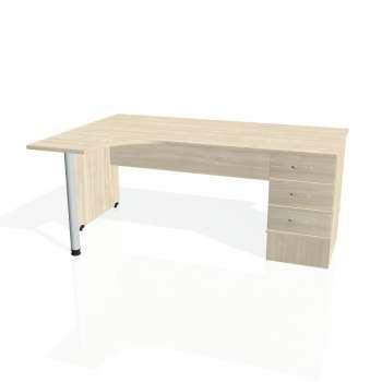 Psací stůl Hobis GATE GEK 1800 pravý 23, akát/akát