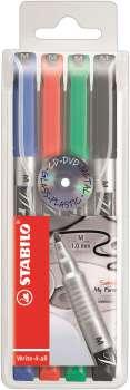 Popisovač Stabilo write-4-all - sada 4 barev, 1 mm