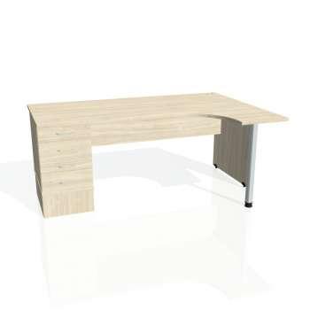 Psací stůl Hobis GATE GEK 1800 levý 24, akát/akát