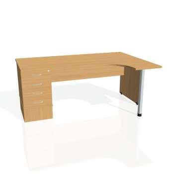 Psací stůl Hobis GATE GEK 1800 levý 24, buk/buk