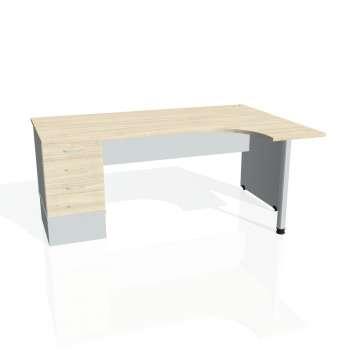 Psací stůl Hobis GATE GEK 1800 levý 24, akát/šedá