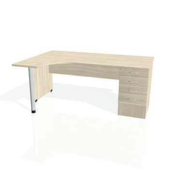 Psací stůl Hobis GATE GEK 1800 pravý 24, akát/akát