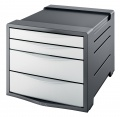 Zásuvkový box Esselte Europost VIVIDA - 4 zásuvky, bílý/šedý