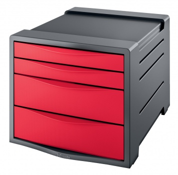 Zásuvkový box Esselte Europost VIVIDA, červená