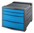 Zásuvkový box Esselte Europost VIVIDA - 4 zásuvky, modrý/šedý