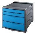 Zásuvkový box Esselte Europost VIVIDA, modrá/šedá