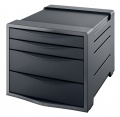 Zásuvkový box Esselte Europost VIVIDA - černý/šedý