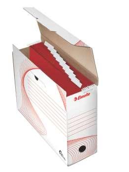 Archivační krabice na pořadače Esselte - 12 x 27 x 32,5 cm, bílá