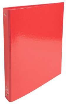 Čtyřkroužkový pořadač Exacompta Iderama - A4, laminovaný karton, hřbet 4,0 cm, červená