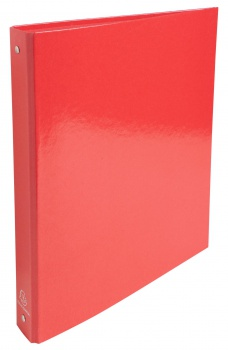 Čtyřkroužkový pořadač Exacompta Iderama - A4, laminovaný karton, hřbet 4,0 cm, červený