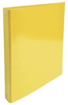Čtyřkroužkový pořadač Exacompta Iderama - A4, laminovaný karton, hřbet 4,0 cm, žlutý