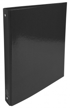 Čtyřkroužkový pořadač Exacompta Iderama - A4, laminovaný karton, hřbet 4,0 cm, černá