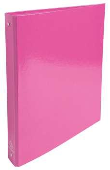 Čtyřkroužkový pořadač Exacompta Iderama - A4, laminovaný karton, hřbet 4,0 cm, růžová