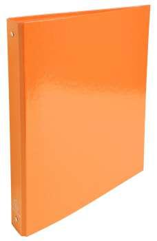 Čtyřkroužkový pořadač Exacompta Iderama - A4, laminovaný karton, hřbet 4,0 cm, oranžový