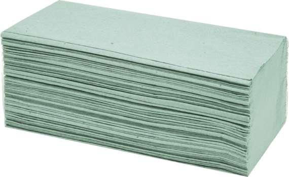Papírové ručníky - jednovrstvé, zelené, 250 ks