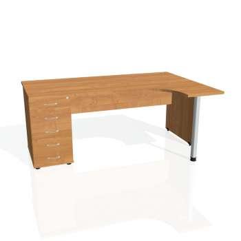 Psací stůl Hobis GATE GEK 1800 levý 25, olše/olše