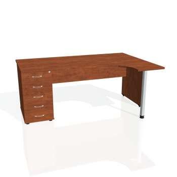 Psací stůl Hobis GATE GEK 1800 levý 25, calvados/calvados