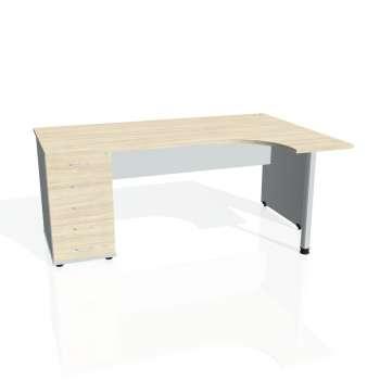 Psací stůl Hobis GATE GEK 1800 levý 25, akát/šedá