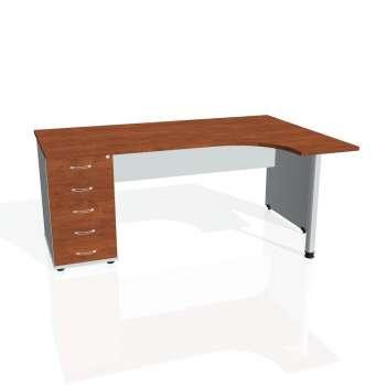 Psací stůl Hobis GATE GEK 1800 levý 25, calvados/šedá