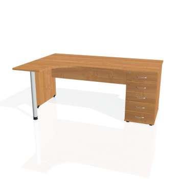 Psací stůl Hobis GATE GEK 1800 pravý 25, olše/olše