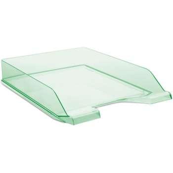 Zásuvka Donau - A4, plastová, transparentní, zelená