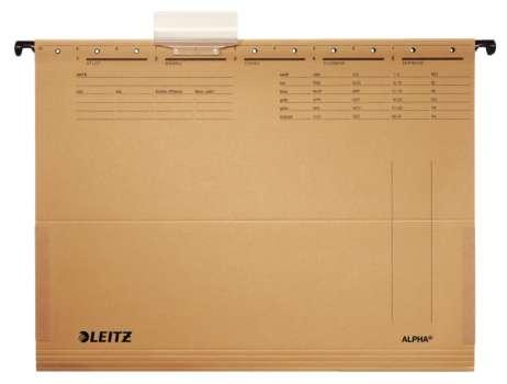 Závěsné desky papírové  LEITZ Alpha A4, s bočnicemi, 25 ks