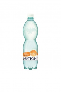 Ochucená minerální voda Mattoni - Pomeranč, 12 x 0,5 l, perlivá
