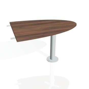 Přídavný stůl Hobis GATE GP 1200 2, ořech/kov