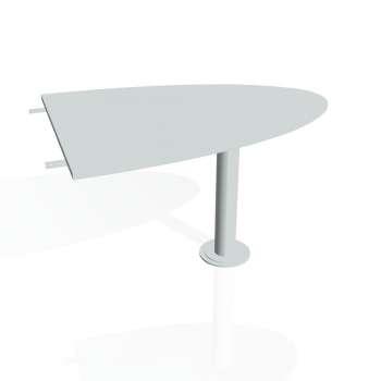 Přídavný stůl Hobis GATE GP 1200 2, šedá/kov