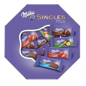 Čokoládky Milka - singles mix, 147g