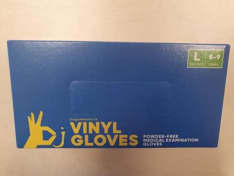 Vinylové rukavice - bezprašné, nesterilní, vel. L