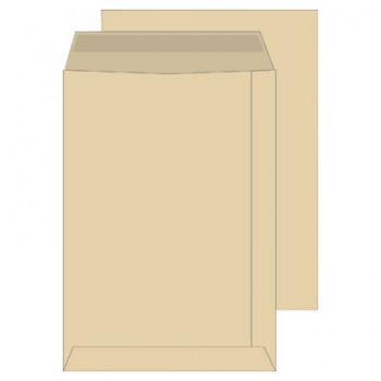 Obchodní tašky Office Depot - C4, samolepicí, hnědé, 250 ks