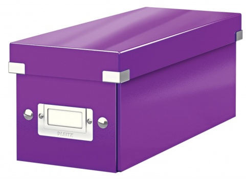 Archivační krabice na CD LEITZ WOW Click-N-Store - A4, purpurová