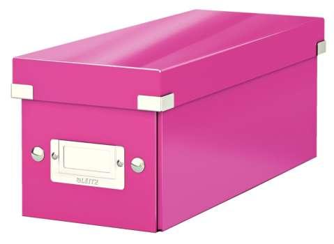 Krabice na CD LEITZ Click-N-Store - A4, růžová