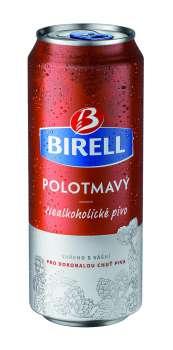 Nealkoholické pivo Birell - polotmavé, 24x 0,5 l, plech
