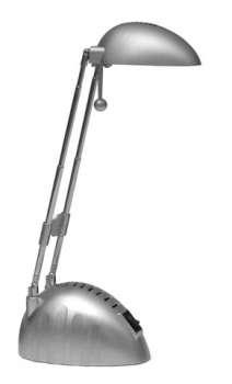 Stolní lampa BONY Ecolite - stříbrná