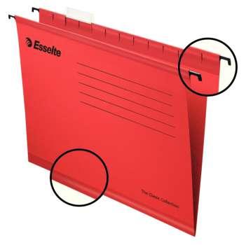 Papírové závěsné desky Pendaflex Standard, červené, 25 ks