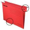 Závěsné papírové desky Classic, červená