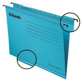 Papírové závěsné desky Pendaflex Standard, modrá , 25 ks