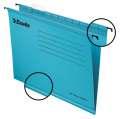 Závěsné papírové desky Classic, modrá