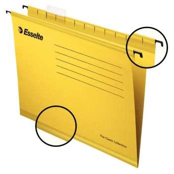 Papírové závěsné desky Pendaflex Standard, žluté, 25 ks