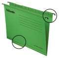 Závěsné papírové desky Classic, zelená