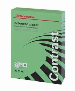 Barevný papír Office Depot Contrast - A4, intenzivní modrá, 120 g, 250 listů