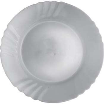 Talíř - skleněný, mělký, 6 x 25,5 cm