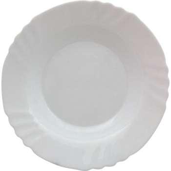 Talíř - skleněný, hluboký, 6 x 23,5 cm