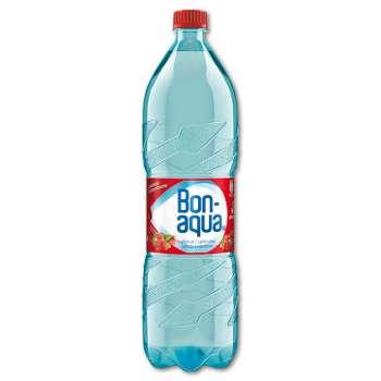 Ochucená voda Bonaqua - jahoda a rebarbora, 6 x 1,5 l