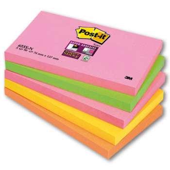 Poznámkové samolepicí bločky Post-it Super Sticky - 5 barev, 12,7 x 7,6 cm