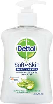 Tekuté mýdlo Dettol - antibakteriální, 250 ml, s pumpičkou