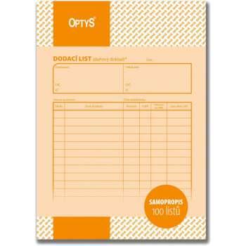 Dodací listy Optys - A5, 100 listů