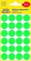 Kulaté etikety Avery Zweckform - zelené, průměr 18 mm, 96 ks